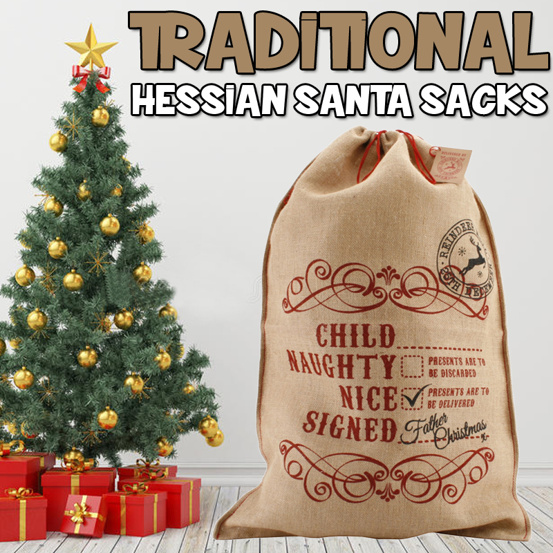 TRADITIONAL PERSONALISED SANTA SACKS UK